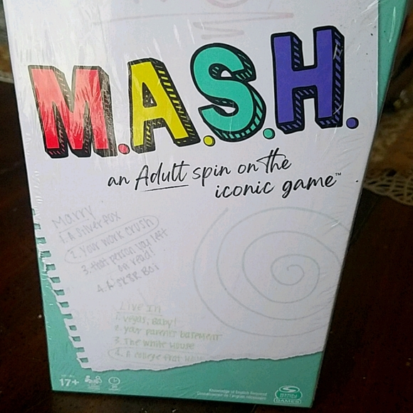M.A.S.H ADULT GAME, 17+ NEW IN WRAPPER!